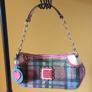 Dooney & Bourke Multicolored Plaid Mini Hobo Bag
